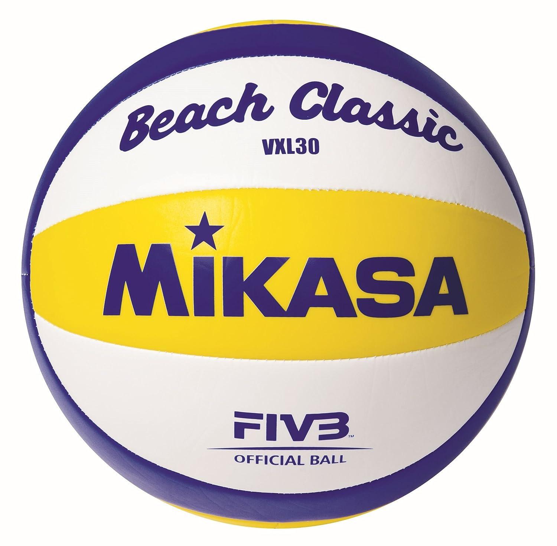 Mikasa Ball Beach Classic VXL 30, Weiß/Blau/Gelb, 5, 1623 Weiß/Blau/Gelb