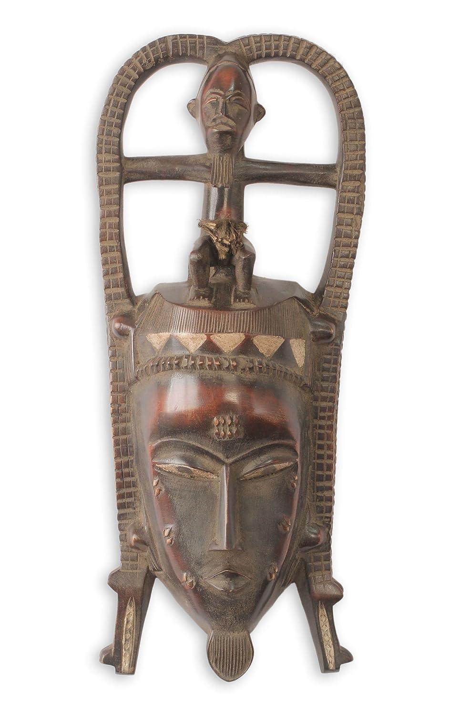 NOVICA 215105 Máscara Africana de cocodrilo Baule: Amazon.es: Hogar