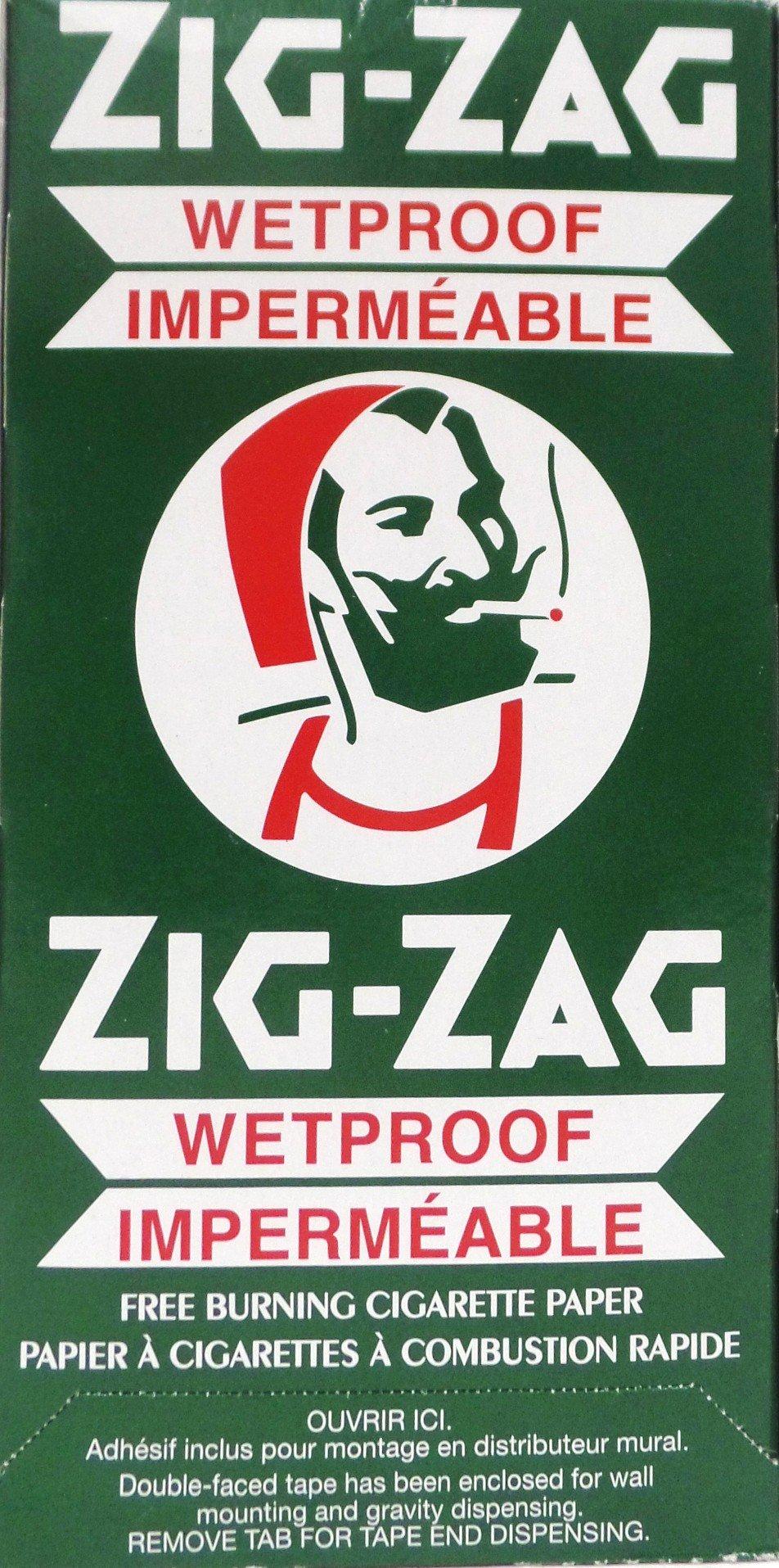 25 Packs Zig Zag Wetproof Cigarette Rolling Papers 100 Leaves/Pack Slow Burning