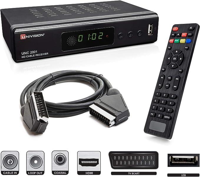 Full Hd Digitaler Kabel Receiver Dvb C C2 Mit Aufnahmefunktion Pvr Und Timeshift Für Alle Kabel Anbieter Mit Hdmi Scart Usb Auto Installation Mediaplayer 1080p Mkv Amazon De