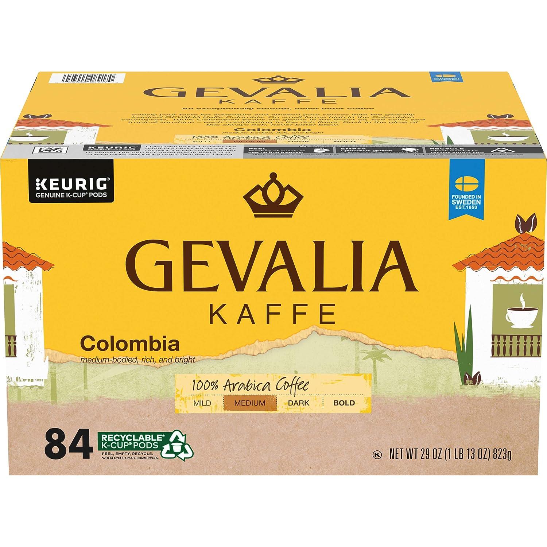 GEVALIA Colombian Coffee K-Cup Pods, 84 ct - 29 oz Box