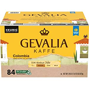 GEVALIA Colombian Coffee K-Cup Pods, 84 ct - 29 oz Box