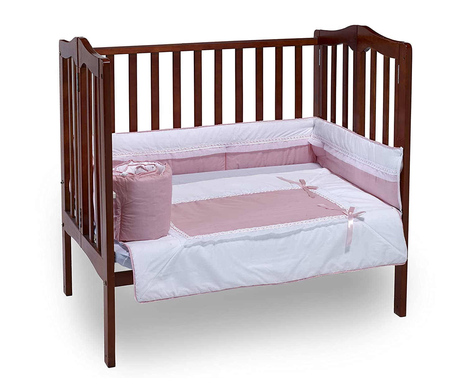 Baby Doll Bedding Royal Mini Crib/Port-a-Crib Bedding Set, Pink