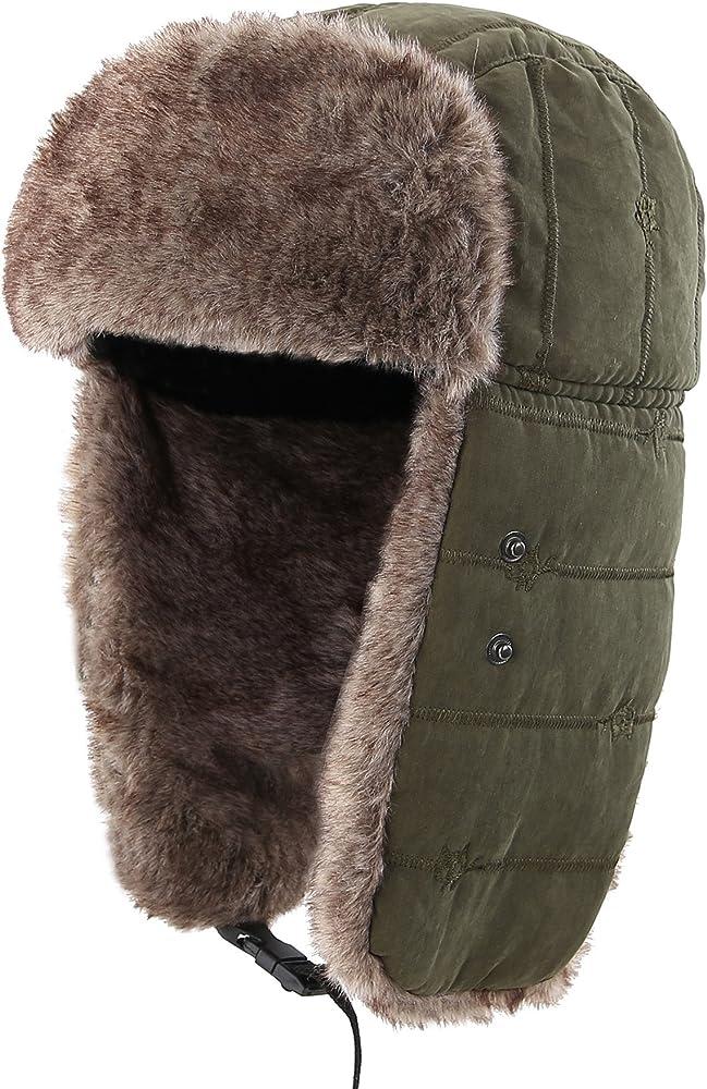 11e6b153c Warm Trapper Hat Windproof Winter Russian Hats with Mask Ushanka Hat