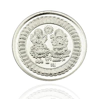 10 gram Coin Lakshmi // Laxmi /& Ganesh Pure Silver Set of Five coin 99.9/%