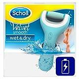 Scholl Velvet Smooth Pedi Pro Elektrischer Hornhautentferner, wiederaufladbar, Akku, Pediküre, Fußpflege, 1 Gerät inkl. Ladestation