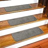 "Ottomanson Softy Stair Tread, 9"" X 26, Gray"