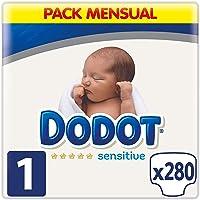 Dodot Sensitive Pañales Talla 1, 280 Pañales, 2-5
