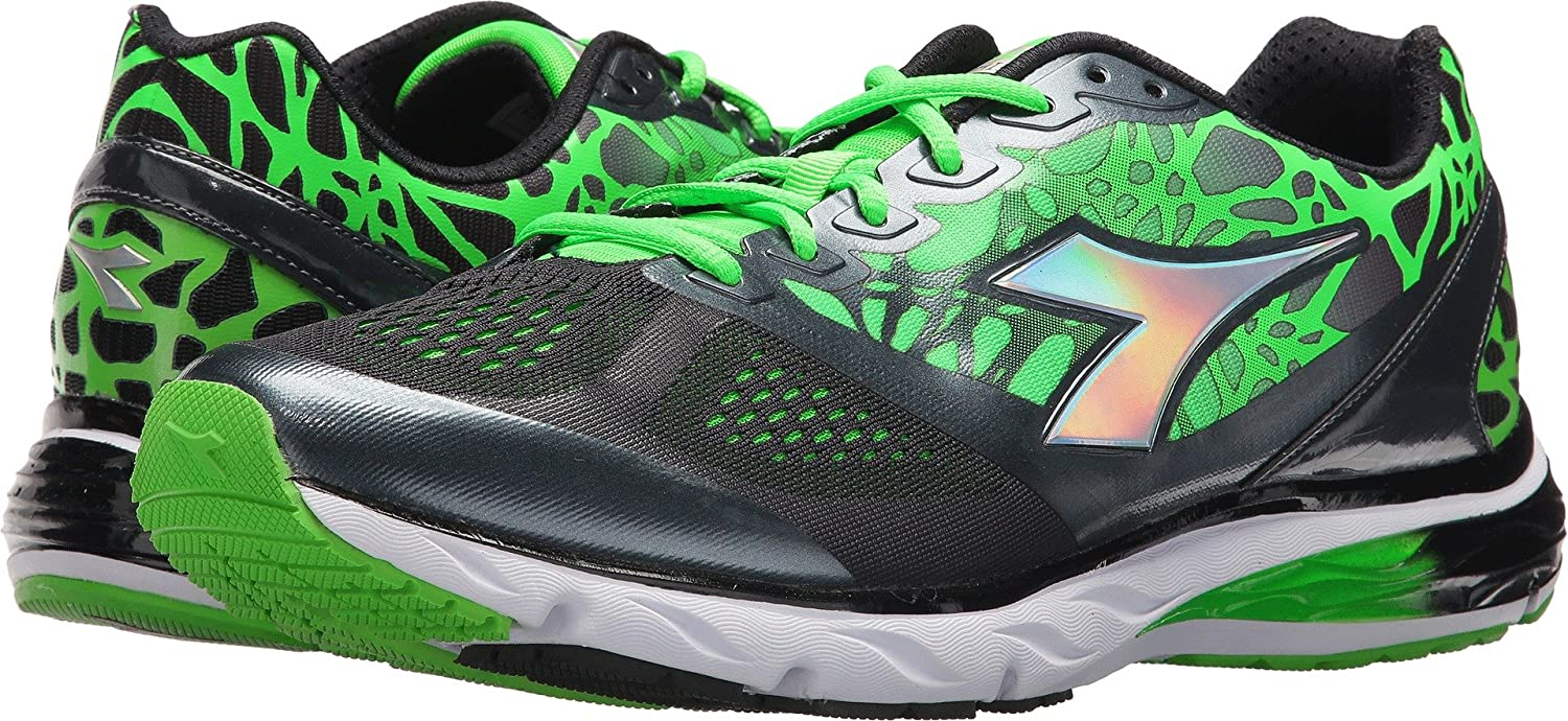 Diadora Mens Mythos Blushield Black/Green Fluo