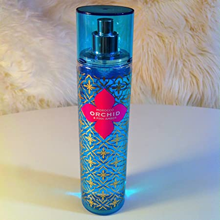 Bath Body Works Morocco Orchid Pink Amber 8 Ounce Fine Fragrance Mist Spray