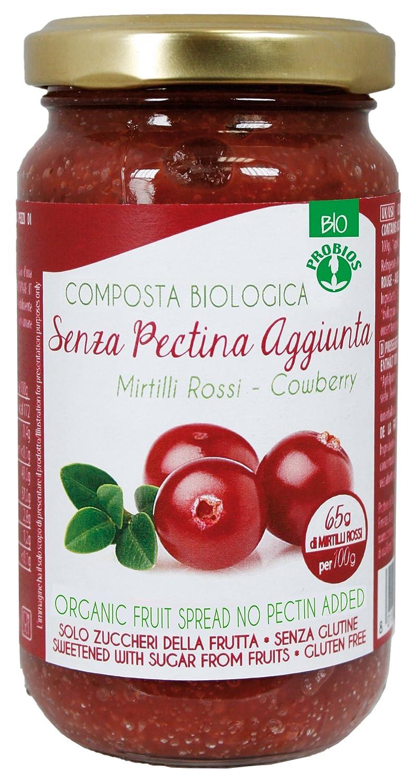 Probios Compota de Arándano Rojo, con Azúcar de La Fruta - Paquete de 6 x 220 gr - Total: 1320 gr: Amazon.es: Alimentación y bebidas