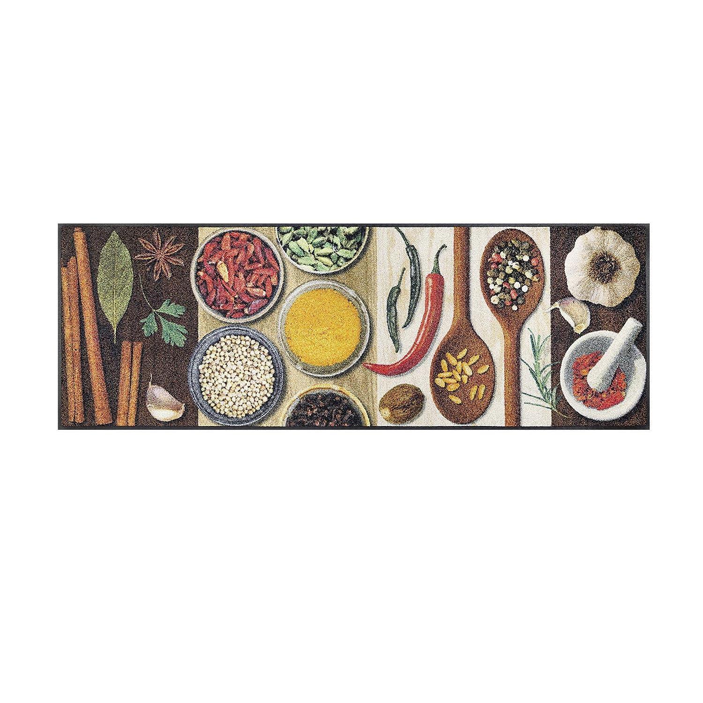 Wash+dry Hot Spices Fußmatte, Acryl, bunt, 60x180x0.7 cm