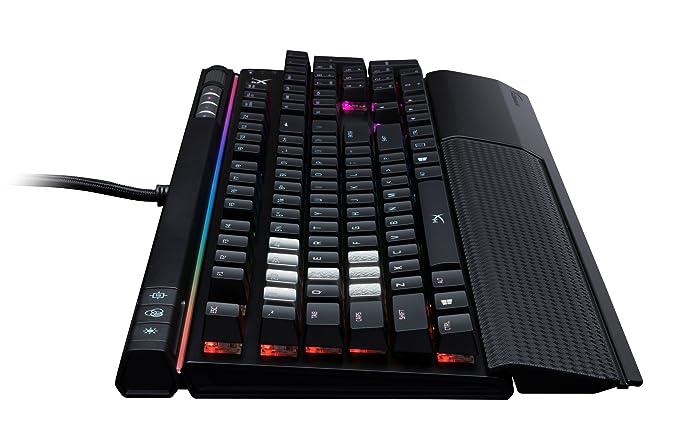 HyperX Alloy Elite RGB - Teclado para Juegos mecánico (Cherry MX Brown, Tipo QWERTY), Color Negro: Amazon.es: Informática