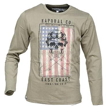 bda309f9b8e6c Kaporal - Tee Shirt Garçon Modar Army - Couleur Vert - Taille 16 Ans ...