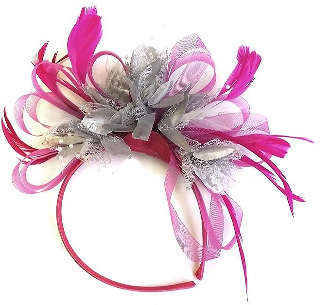 Fucsia rosa y plateado diseño de mujer con pelo isla japonesa de ...