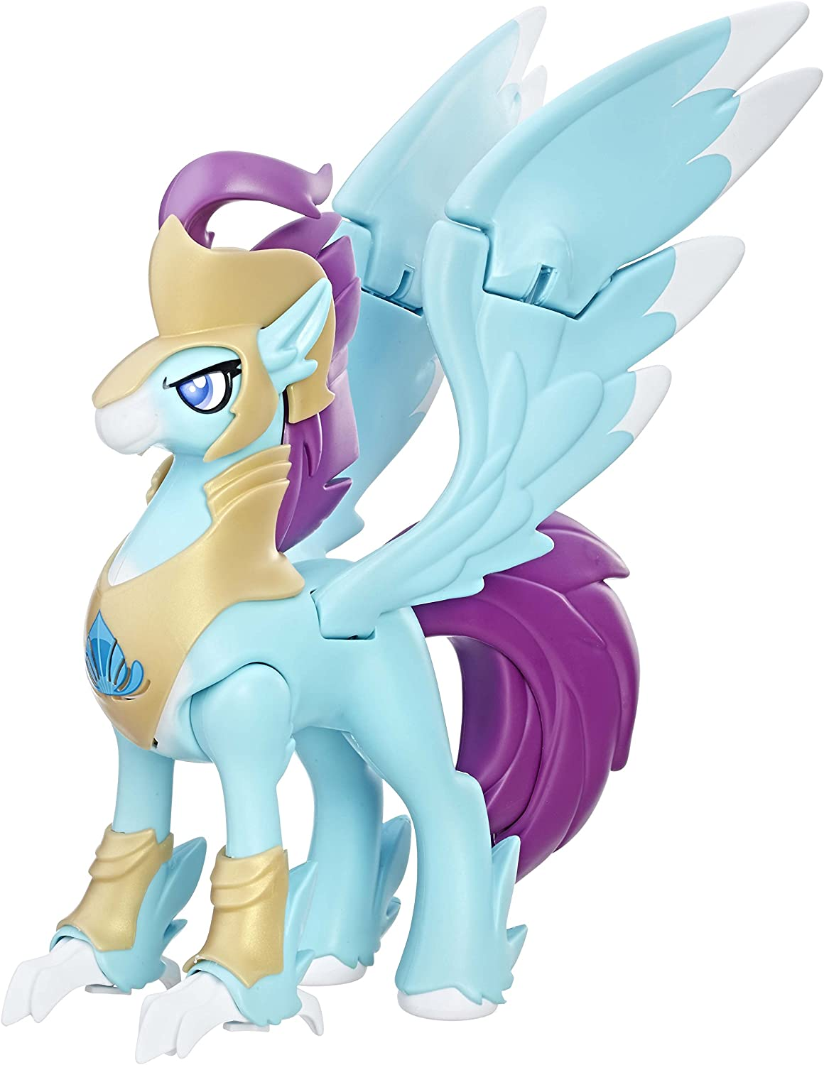 Amazon Com My Little Pony The Movie Stratus Skyranger Hippogriff Guard Figure Toys Games