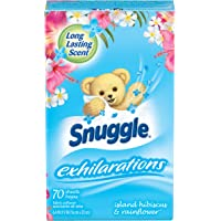 70-Count Snuggle Exhilarations Fabric Conditioner Dryer Sheets (Island Hibiscus & Rainflower)