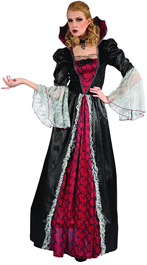 fc9aecbc0d5d Costume da donna vampiro per Halloween M: Amazon.it: Giochi e giocattoli