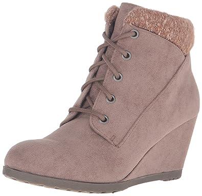334cf20e8045 Madden Girl Women s Courrtne Ankle Bootie Dark Taupe 9 ...