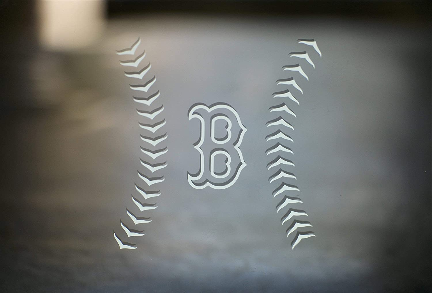 Boston Red Sox Inspired 'B' Special Custom Design Die-Cut 4 Vinyl Decal for Car Windows, Laptops or Wherever