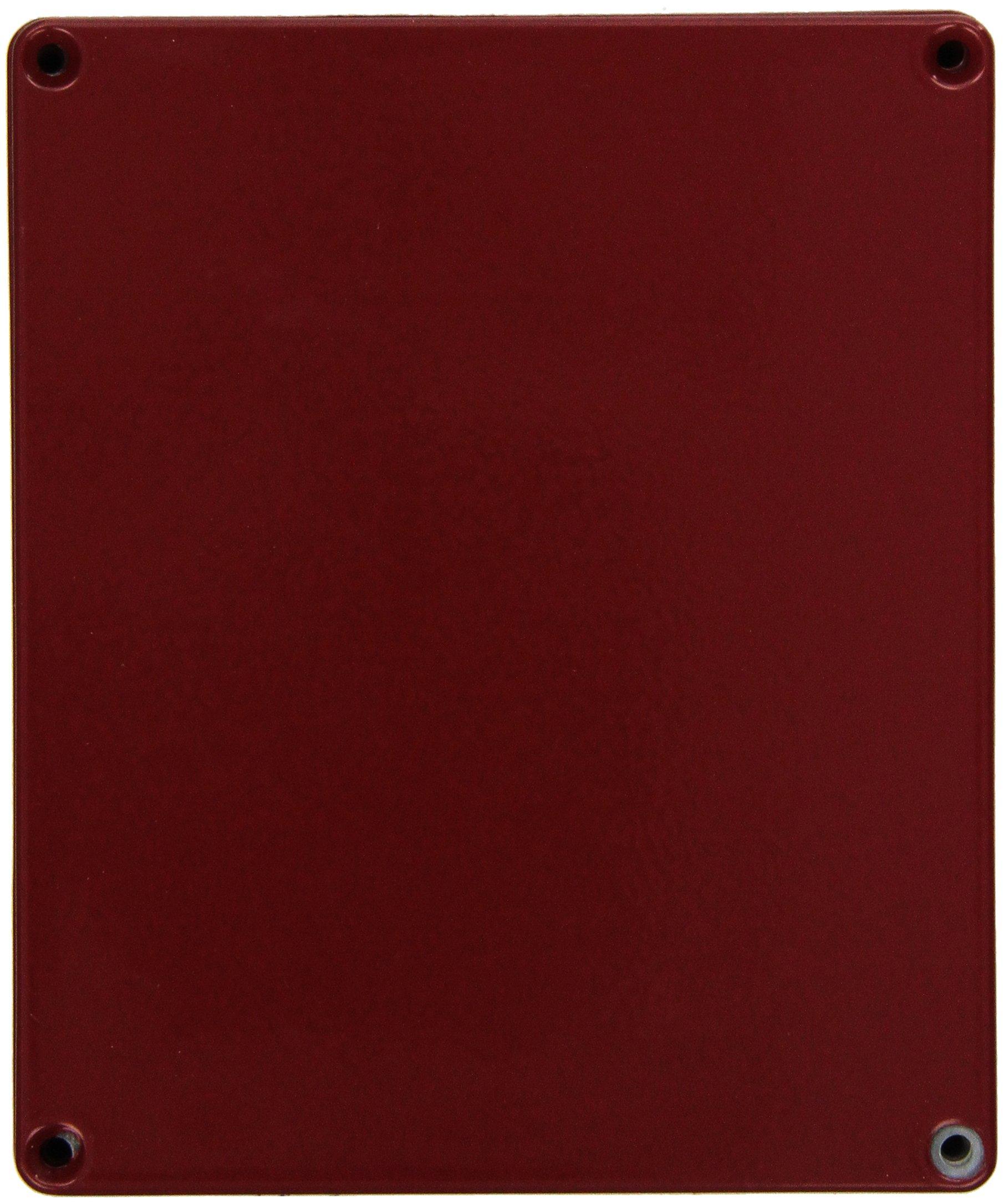 Hammond 1590XXRD Red Diecast Aluminum Enclosure -- Inches (5.72'' x 4.77'' x 1.39'') mm (145mm x 121mm x 35mm)