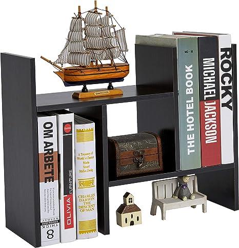 S-NA Desktop Shelves // Wood Book Rack SSSJ-S Workplace Storage Station Expandable Bookshelf //Bookcase Wood Fully Assembled Adjustable Book Rack for Office Desktop Book Shelf with Drawers Desktop Organizer Book Shelves