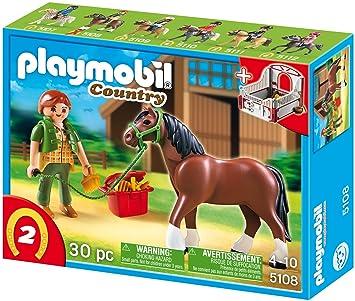Playmobil 5518 shagya araber mit braun beiger pferdebox vos - Pferde playmobil ...