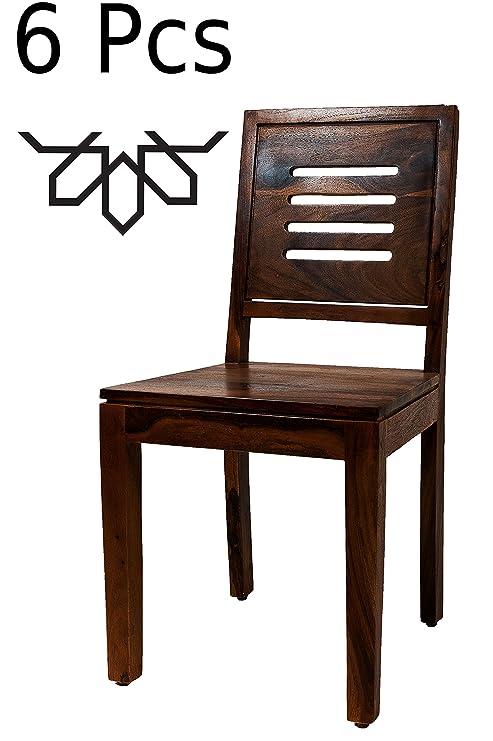 MAADES - Juego de sillas de Comedor de Madera Maciza de ...