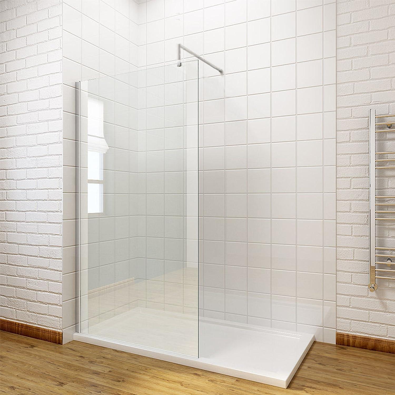 1700x700mm Tray + 900mm Wetroom Glass Walk In Shower Door + Free Waste Premier