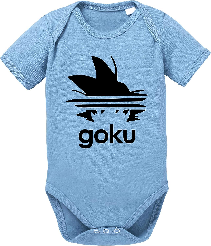 Tee Kiki Adi Goku Body Dragon de algodón orgánico Ball Son Proverbs Baby Romper para niños y niñas de 0 a 12
