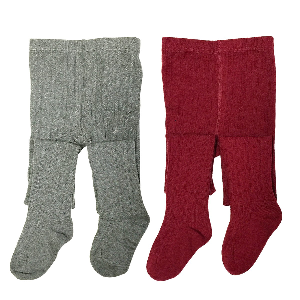Bowbear 2-Pair Girls Fancy Knit Cotton Tights