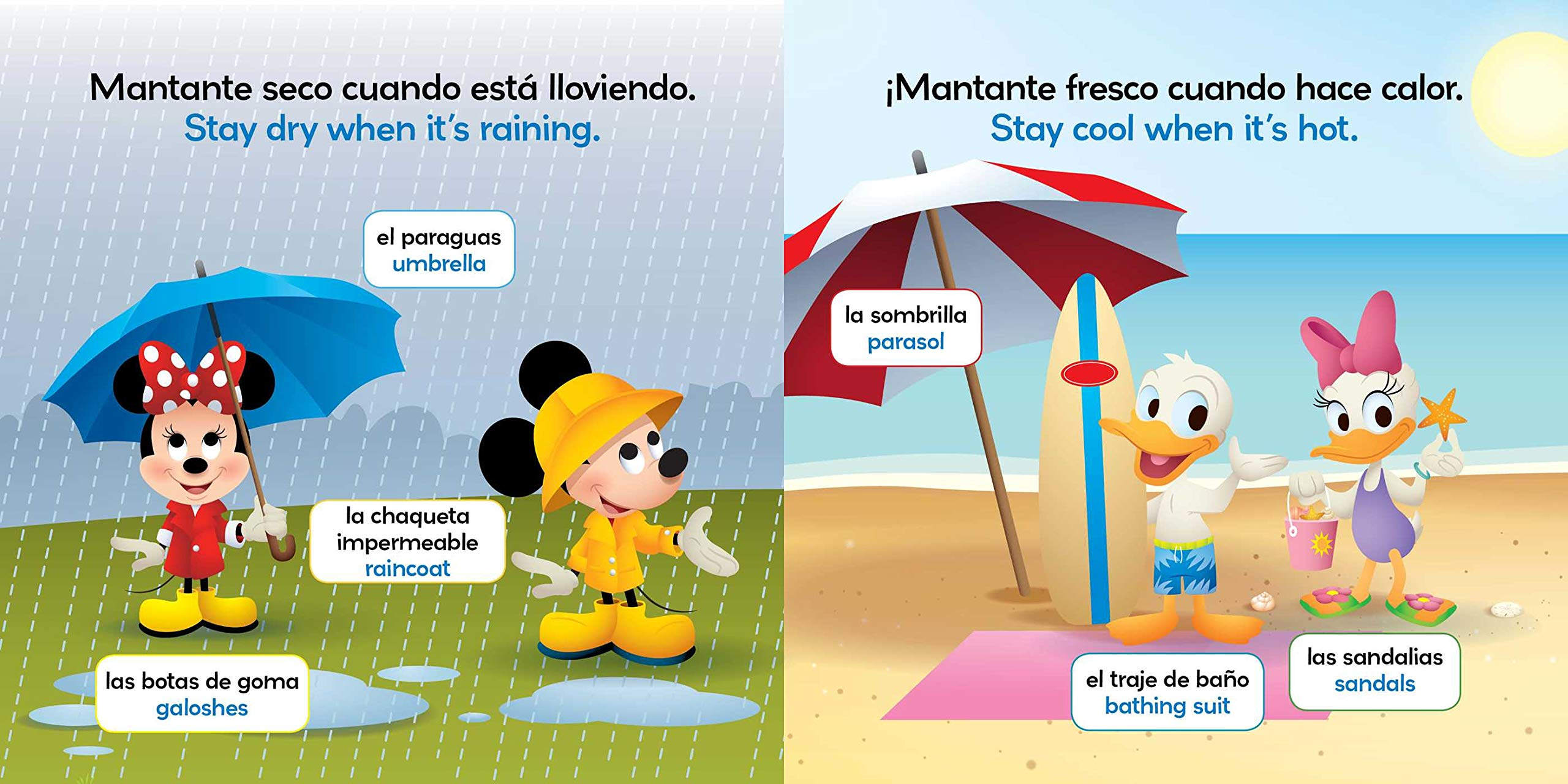 Amazon.com: Rain or Shine / Lluvia o sol (English-Spanish) (Disney Baby) (Disney Bilingual) (9781499807936): Stevie Stack, Disney Storybook Art Team, ...