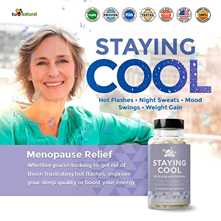 Amazon com: Staying Cool Hot Flashes & Menopause Natural Relief