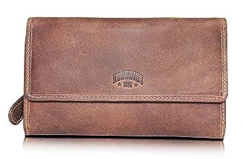 282226b9212af Klondike 1896  Donna  Geldbörse Damen Groß viele Fächer Leder Frauen  Geldbeutel mit Reißverschluss Lang
