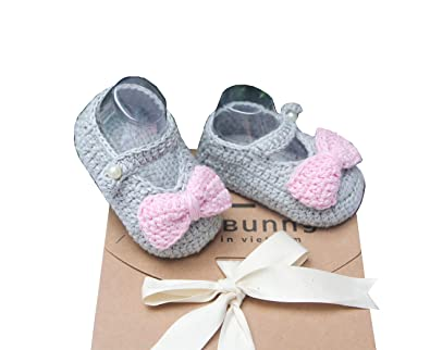 Amazon.com: The Bunny - Zapatos de punto para bebé, hechos a ...