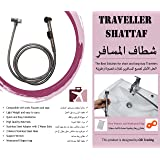 Travel Shattaf - Portable and easy to install with strong Handler, Faucet Adapter, 2 meters hose, Support Wrench and free waterproof bag