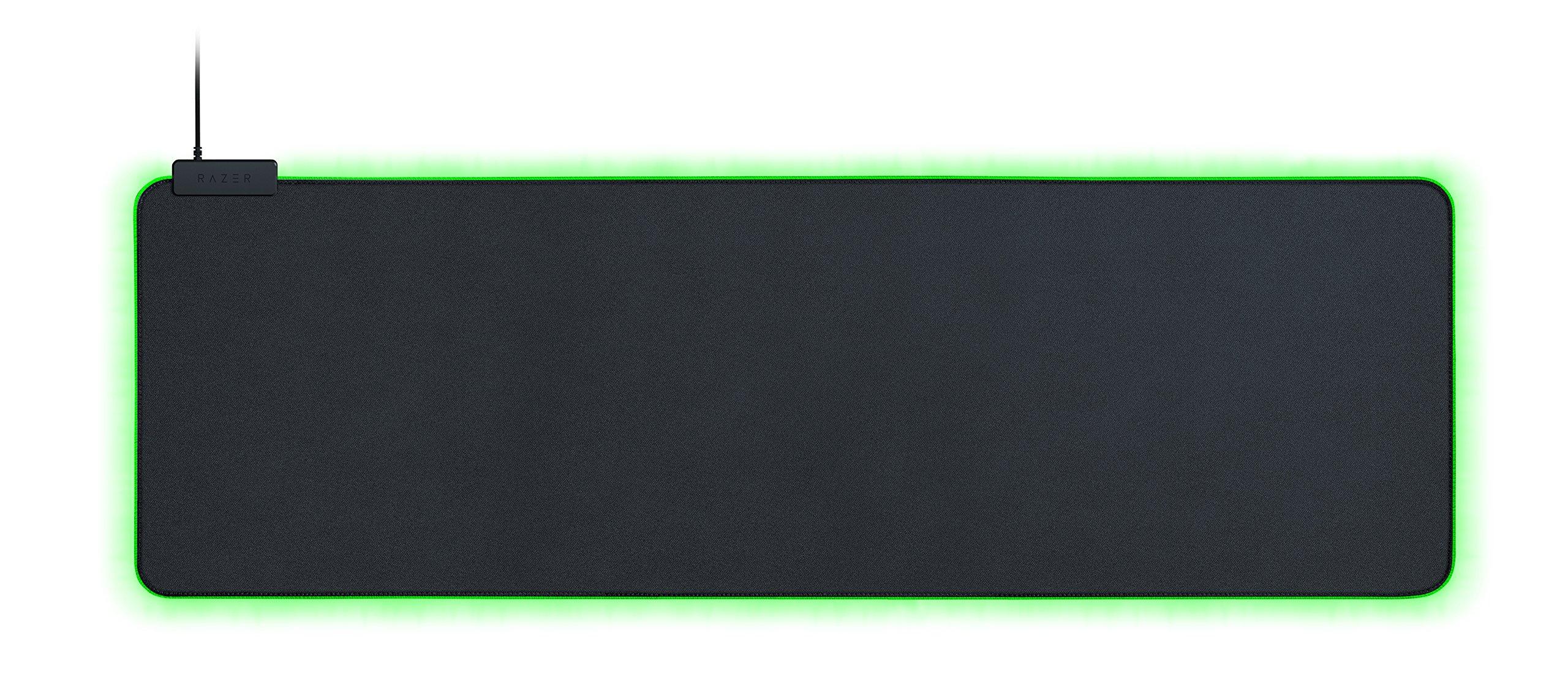 Razer Goliathus Extended Chroma Gaming Mousepad: Customizable Chroma RGB Lighting - Soft, Cloth Material - Balanced Control & Speed - Non-Slip Rubber Base - Matte Black by Razer