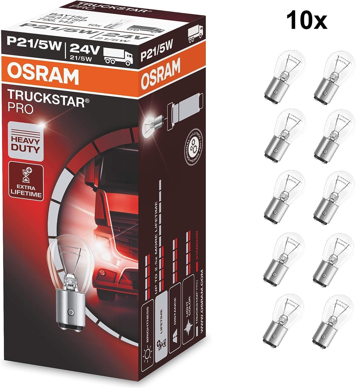 Osram 7537tsp Truckstar Pro Standlichtlampe P21 5w 24v 10er Faltschachtel Auto