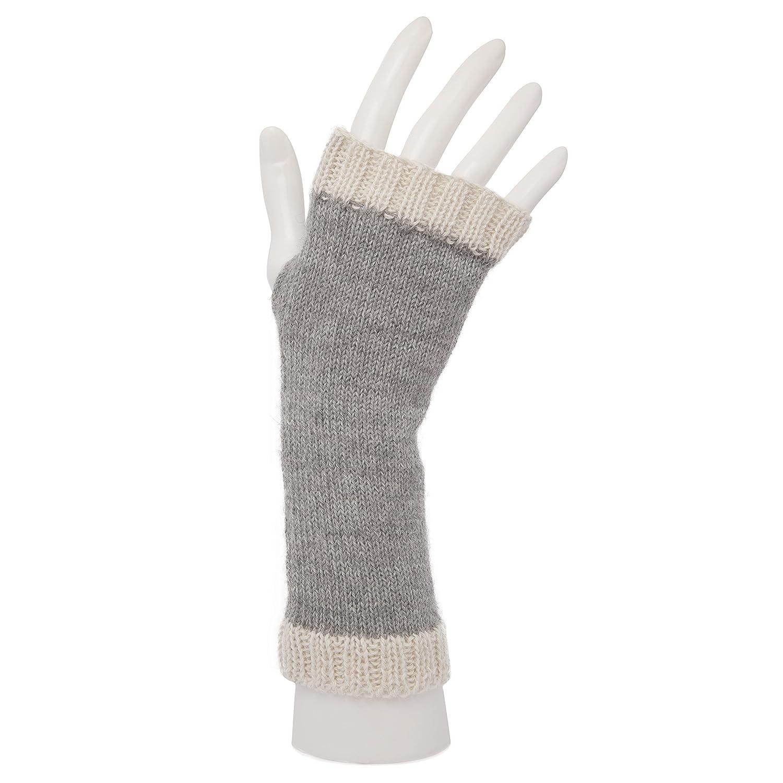 100% Laine d'Alpaga Mitaines Moufles wristwarmers