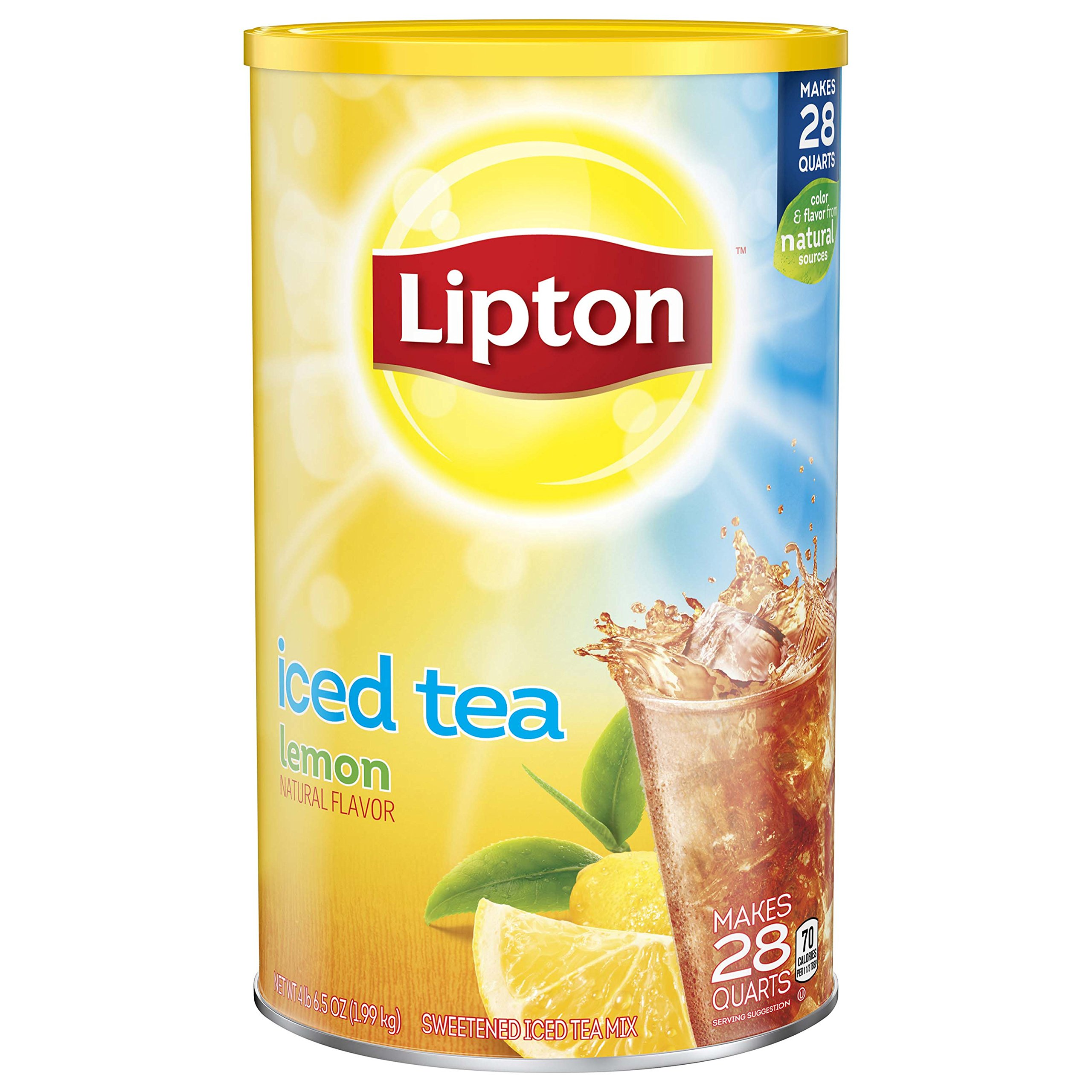 Lipton Iced Tea Mix, Lemon, 28 qt (Pack of two)