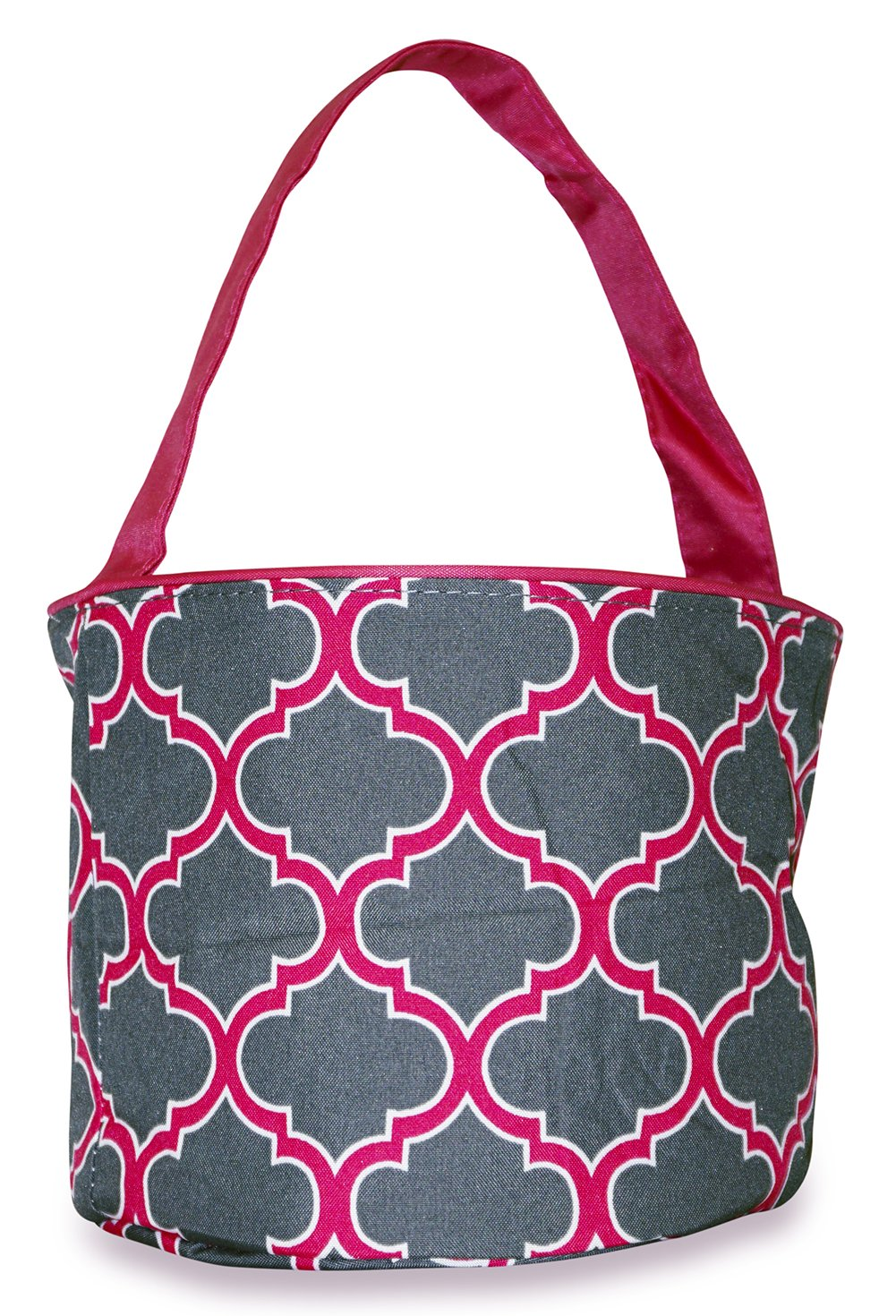Ever Moda Grey Moroccan Caddy Basket Organizer (Pink)