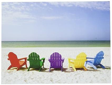 adirondack chairs on beach. Design Adirondack Chairs On Beach Note Cards 20 Count 118-04506 Adirondack Chairs Beach