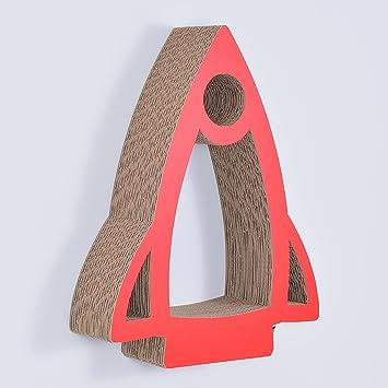 Gsmarkt | Wellpappe Hänge Regal Rakete Rot Außenmaße 38x49x11 Cm (BxLxH) Öko  Deko Kinder