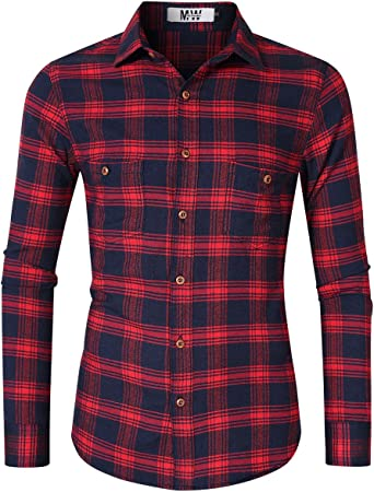 Kuulee Camisa de Vestir para Hombre, con Botones, Informal ...