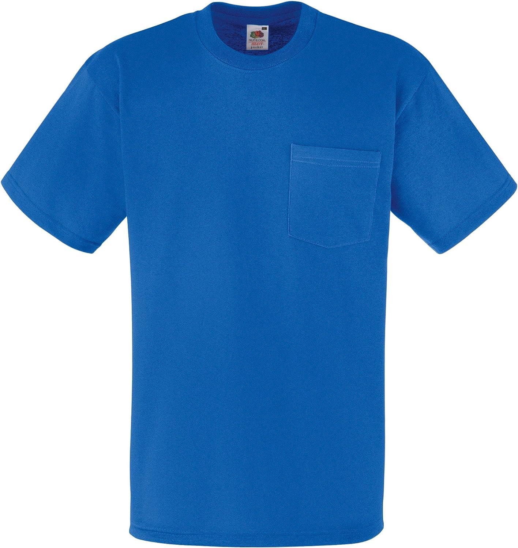 Fruit Of The Loom - Camiseta Básica gruesa de manga corta con bolsillo - 100% Algodón: Amazon.es: Ropa y accesorios