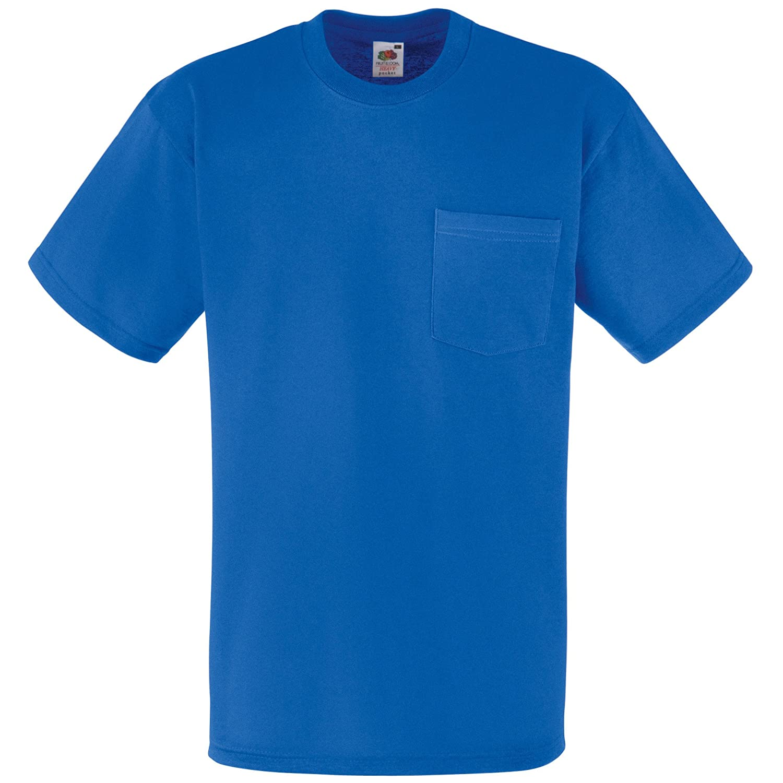 (フルーツオブザルーム) Fruit Of The Loom メンズ ヘビーウェイト ポケットつき 半袖Tシャツ トップス ショートスリーブTシャツ 男性用 B00B69AKU4 XX-Large ブルー ブルー XX-Large