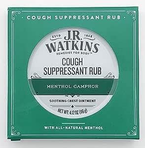 JR Watkins Original Menthol Camphor Cough Ointment/Rub 4.1 oz