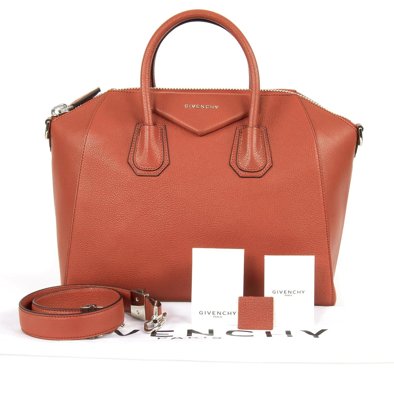 c7c34f61cfe Amazon.com: Givenchy Women's Antigona Sugar Goatskin Leather Satchel Bag,  Burnt Orange: Givenchy: Clothing
