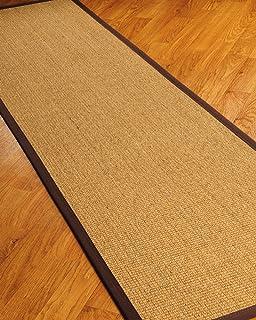 NaturalAreaRugs Studio Sisal Fiber Runner Rug, Handmade In USA, 100% Sisal,  Non
