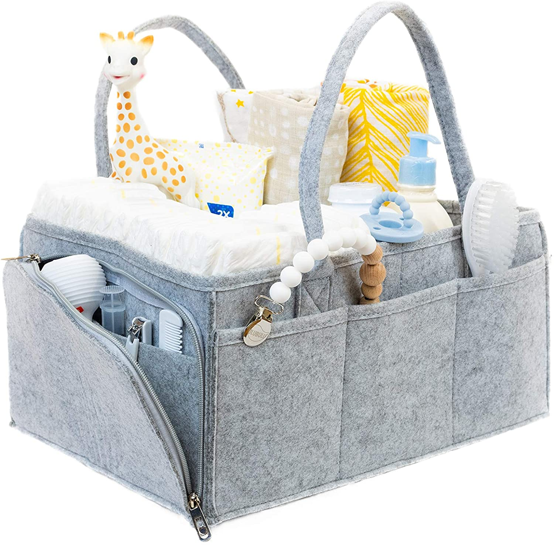 Bolso de pa/ñales de ropa de beb/é multifuncional carrito de almacenamiento de pa/ñales para beb/és a prueba de agua colgante lavable y reutilizable SMT002-EF161